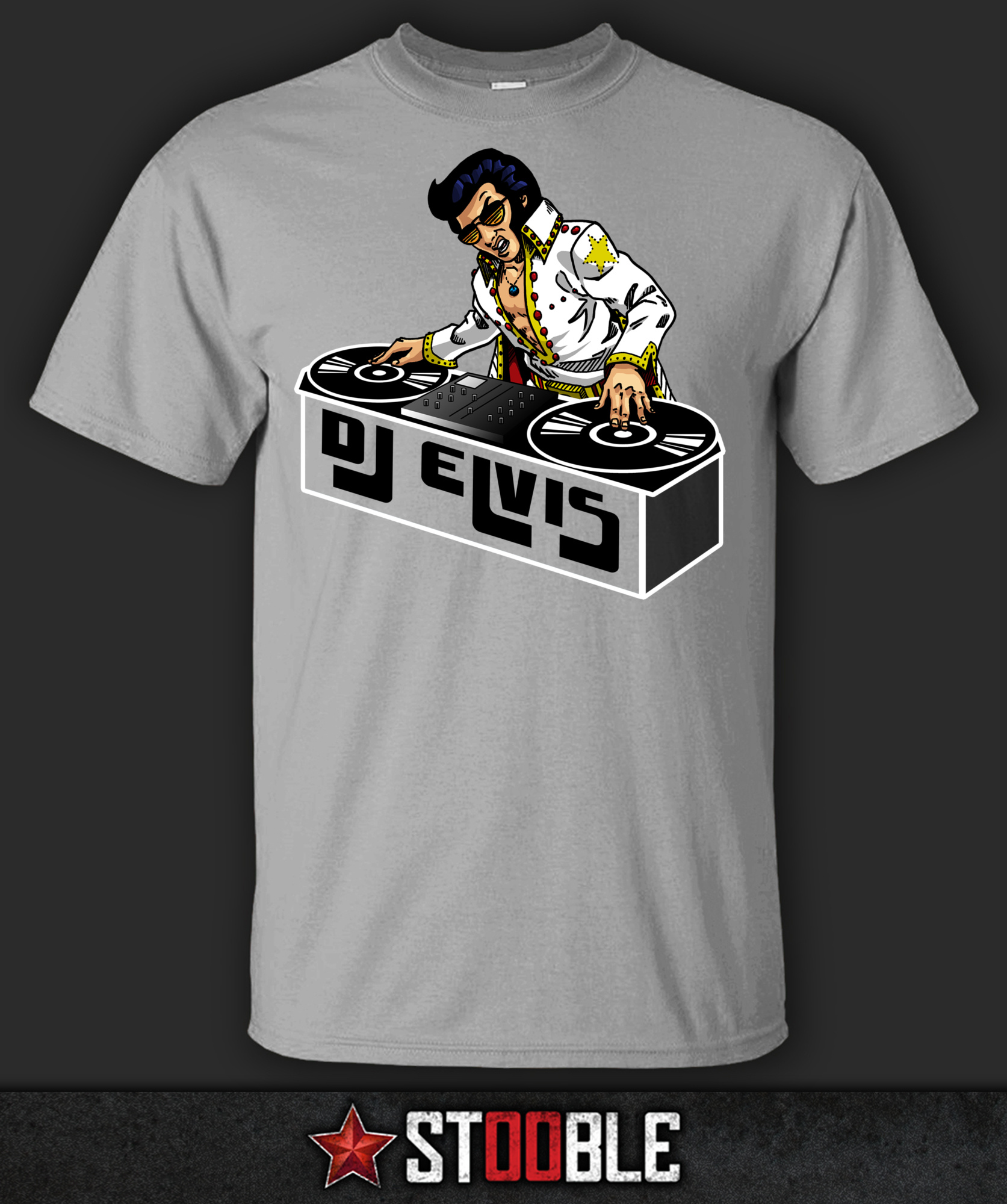 Dj elvis t shirt new direct from manufacturer ebay Dj t shirt design