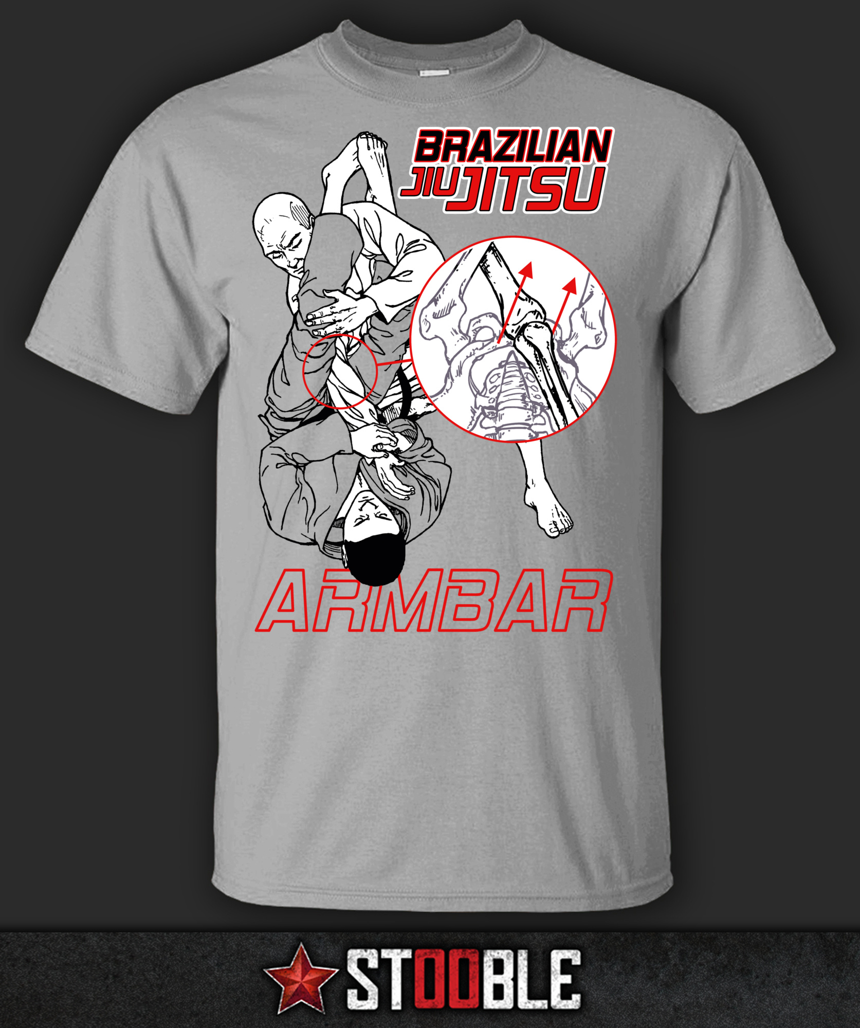 Brazilian Jiu Jitsu BJJ Armbar T-Shirt - New - Direct from Manufacturer