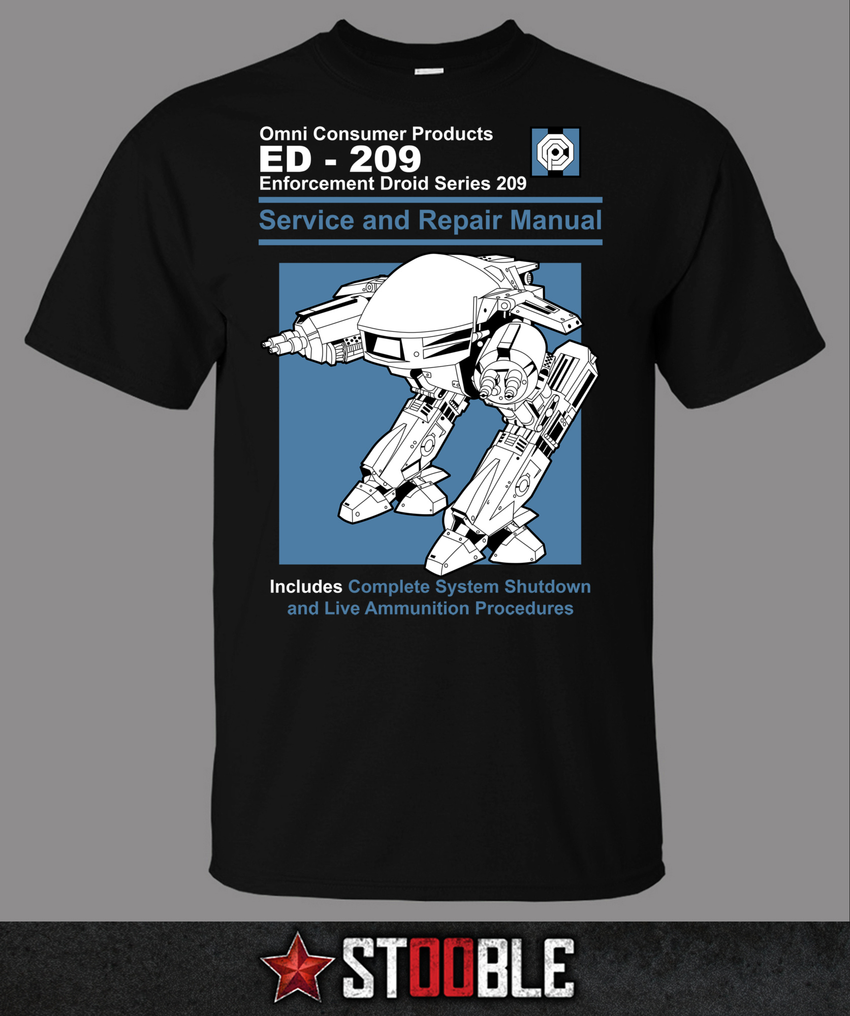 ED 209 T-Shirt - New - Direct from Manufacturer