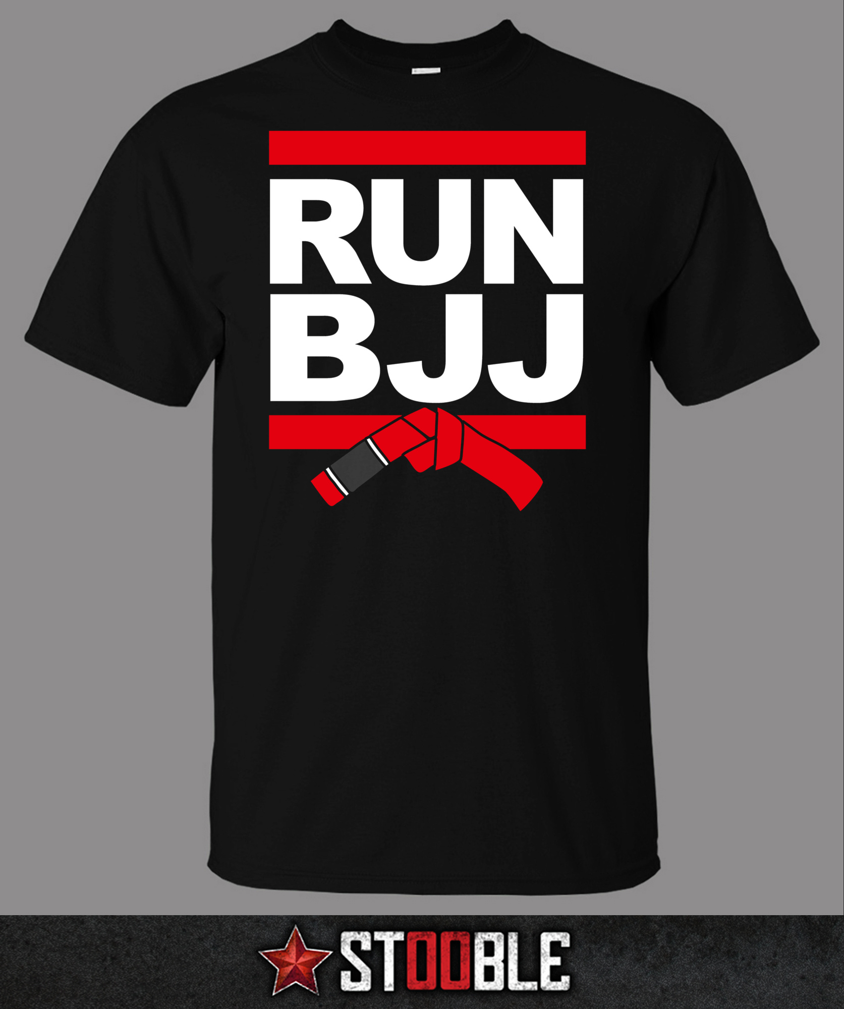 Run BJJ Jiu Jitsu T-Shirt - New - Direct from Manufacturer