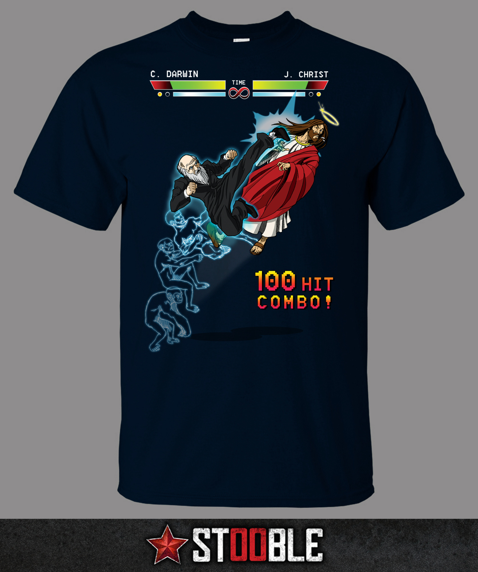 Jesus vs Darwin T-Shirt - New - Direct from Manufacturer