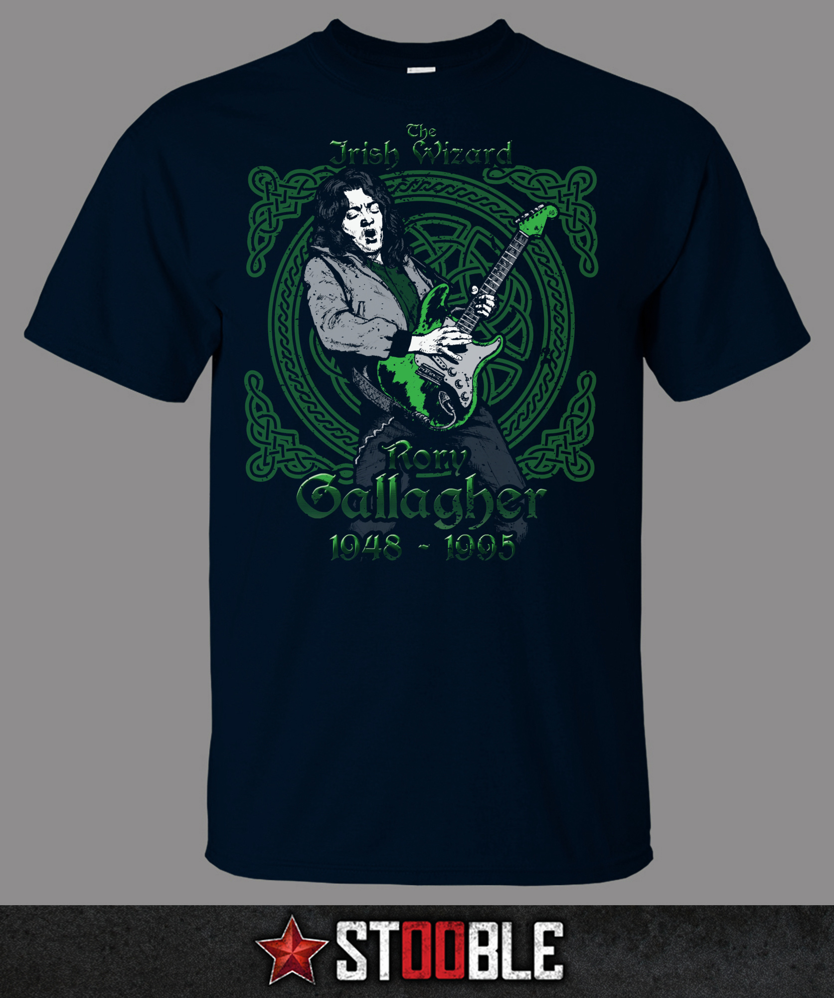 Rory gallagher irish wizard t shirt direct from stockist for Wizard t shirt printing